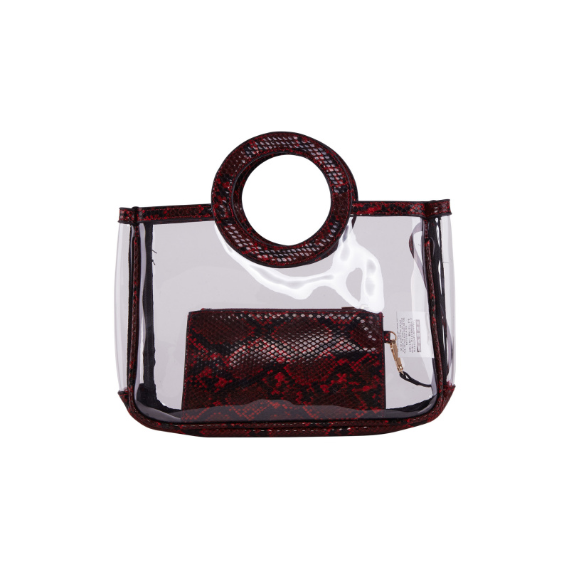BAG WITH SNAKE PRINT CLUTCH
