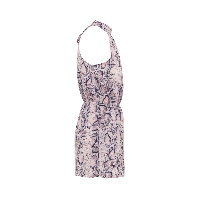 9b1f16c2a0ce Style Details  SNAKE PRINT HIGH NECK PLAYSUIT 95% POLYESTER 5% ELASTAN